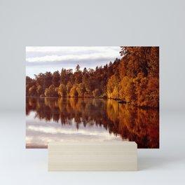 RADIANT AUTUMNAL REFLECTION Mini Art Print