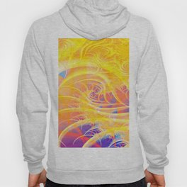 Colorful Abstract Waves Hoody