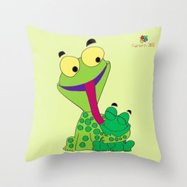 Froggy's Father's Day Throw Pillow