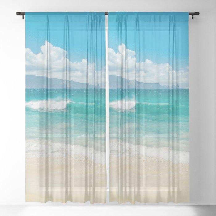 Hawaii Beach Treasures Sheer Curtain By