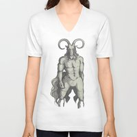 diablo V-neck T-shirts featuring Diablo by ChaoticWaffle