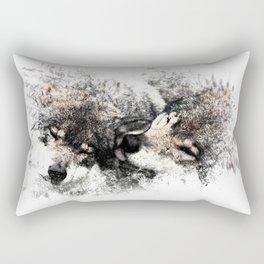 Abstract Wolf Rectangular Pillow