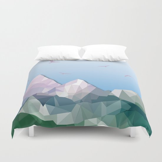 Night Mountains No. 35 Duvet Cover