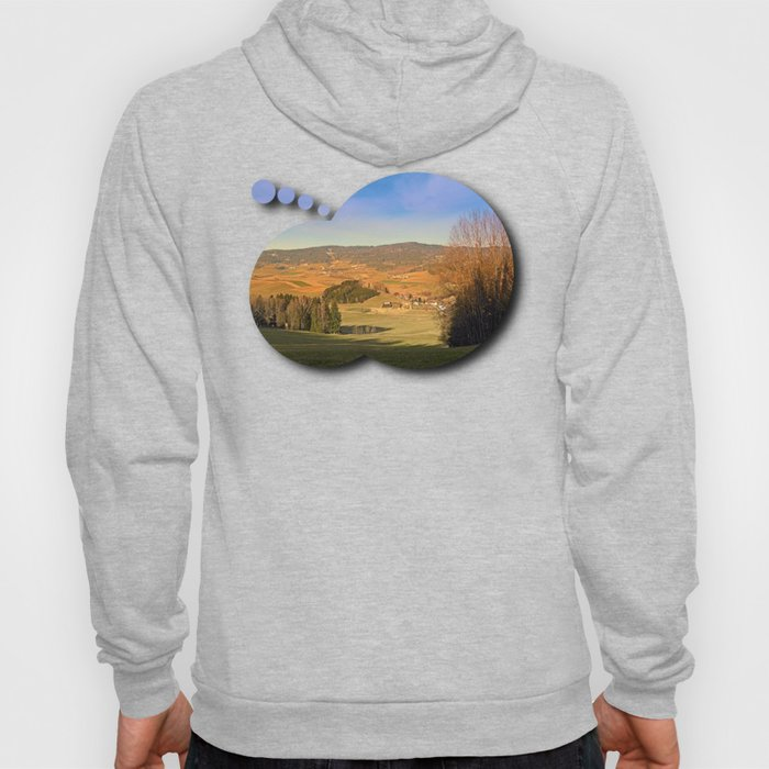 Peaceful panorama with warm colors   landscape photography Hoody