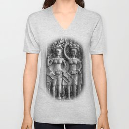 Cambodian Erotic Goddesses Unisex V-Neck