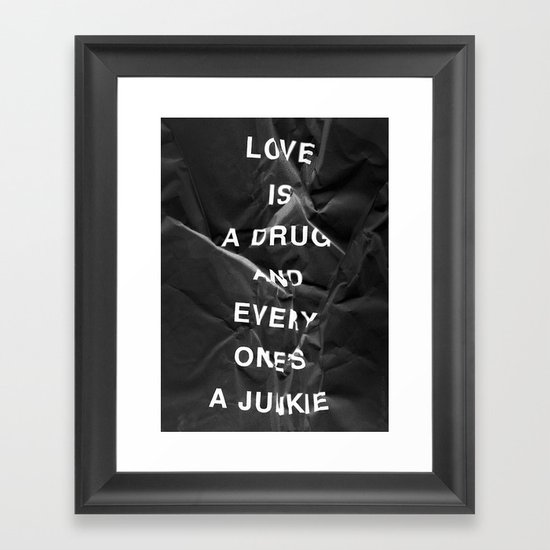 Drug Framed Art Print