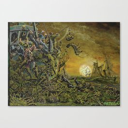 Night of the Weed Crabs Canvas Print