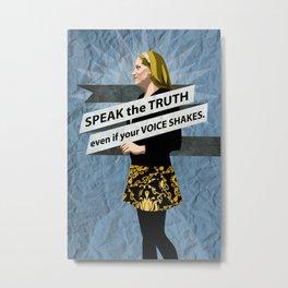 Rachael Speaks Metal Print