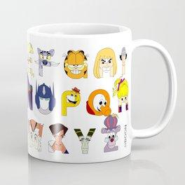 Child of the 80s Alphabet Coffee Mug