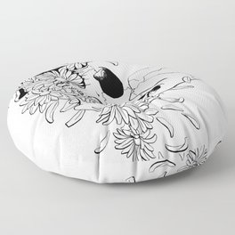 Skull (Pushing Up Daisies) Floor Pillow