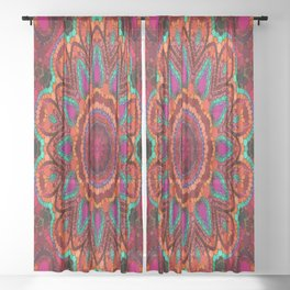 Kaleidoscope for moments of relaxation Sheer Curtain