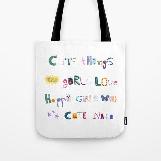 CUTE THINGS Tote Bag