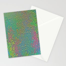 Tropical Frog Feet Marbling Stationery Cards