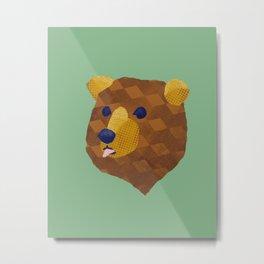 Wonky Bear Metal Print