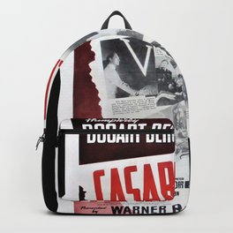 Vintage Casablanca Movie Poster Lithograph Wall Art Backpack