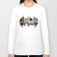 gotham Long Sleeve T-shirts featuring Gotham Villains by I.Nova