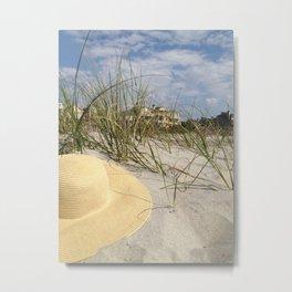 Sun Hat Metal Print