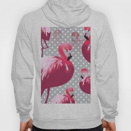 Watercolor Flamingo Pattern 6 Hoodie