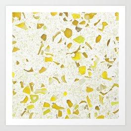 Terrazzo yellow Art Print
