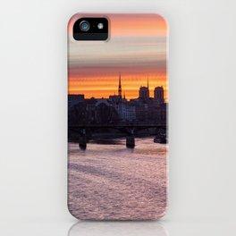 Sunrise over ile de la Cite - Paris iPhone Case