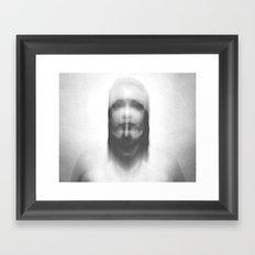 double exposure portrait Framed Art Print