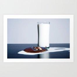Spilled Milk Art Print