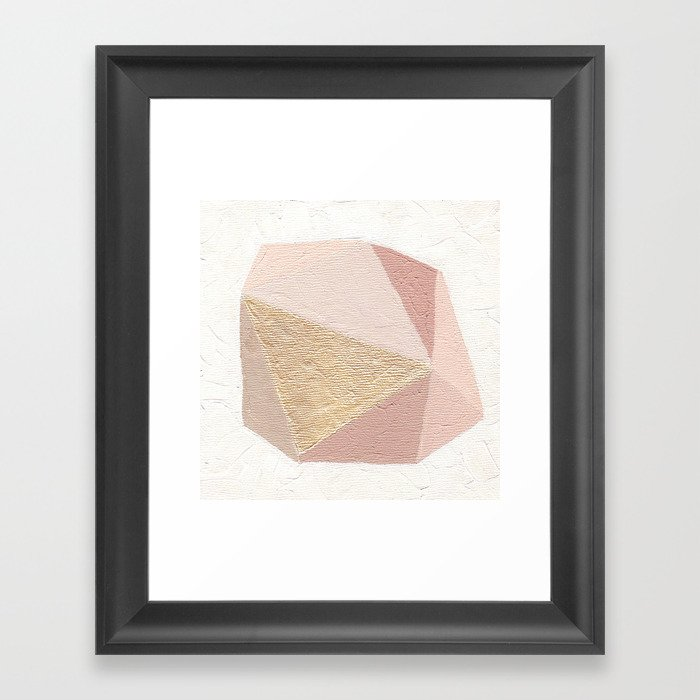 Gold Gem Geometric Painting Framed Art Print