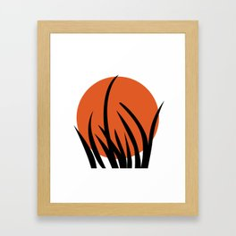 The sun and the grass Framed Art Print