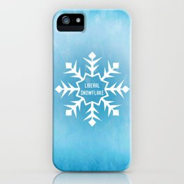 Liberal Snowflake iPhone Case