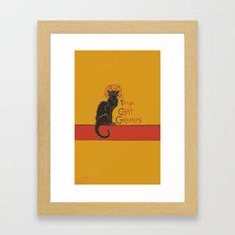 Tournee du Chat Grumpy... Framed Art Print