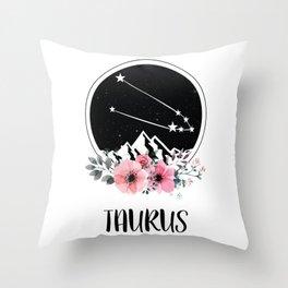 Taurus Star Sign Throw Pillow