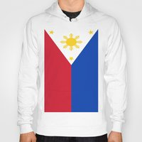 philippines Hoodies featuring Flag of the Philippines by Neville Hawkins