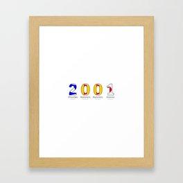 2001 - NAVY - My Year of Birth Framed Art Print