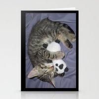 berserk Stationery Cards featuring Monroe Kitten by Berserk Cyborg Panda