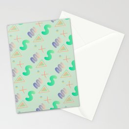 Digital Abstract Pattern Stationery Cards