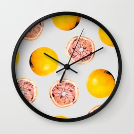 Grapefruit Pattern #society6 #decor #buyart Wall Clock