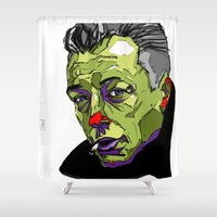 camus Shower Curtains featuring A. Camus by philip painter