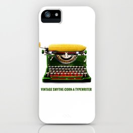 ORGANIC INVENTIONS SERIES: Vintage Smythe-Corn-A Typewriter iPhone Case