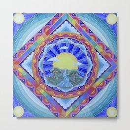 Beautiful World Mandala Metal Print