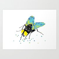 Geosafari   Fly (White) Art Print