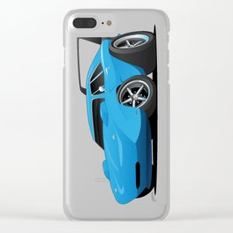 Classic American Winged Muscle Car Cartoon Clear iPhone Case