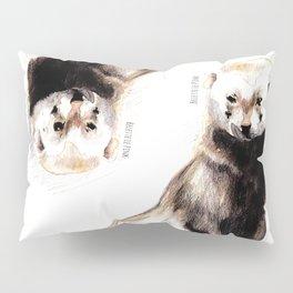Steppen ferret (Mustela eversmanii) Pillow Sham