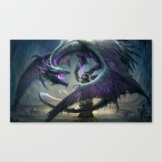 Black Dragon v2 Canvas Print