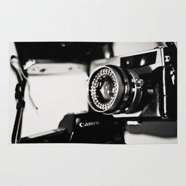 camera love b/w Rug