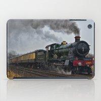 ashton irwin iPad Cases featuring Rood Ashton Hall steam locomotive by PICSL8