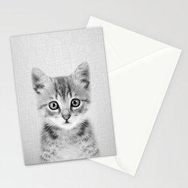 Kitten - Black & White Stationery Cards
