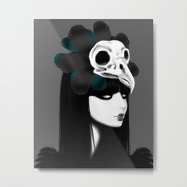 dark bird (lady bird) Metal Print