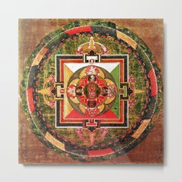 Buddhist Mandala Jungian Archetype Metal Print