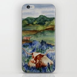Just the Longhorns, Hanging Out iPhone Skin