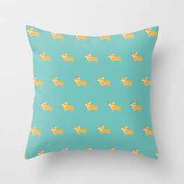 Corgi pattern Throw Pillow